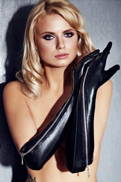 schwarze Handschuhe A0213 von 7-Heaven Dessous
