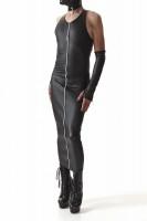 langes Kleid CRD005 schwarz von Regnes Fetish Planet Crossdresser Fetish Line