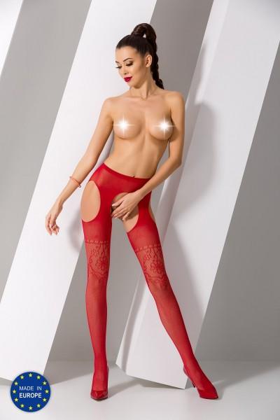 ouvert Strumpfhose S017 rot von Passion Erotic Line