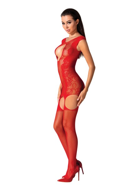 Roter ouvert Bodystocking BS082 von Passion