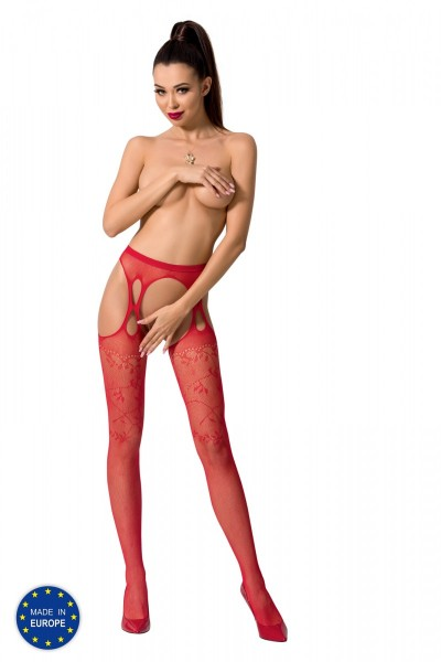 ouvert Strumpfhose S002 rot von Passion Erotic Line