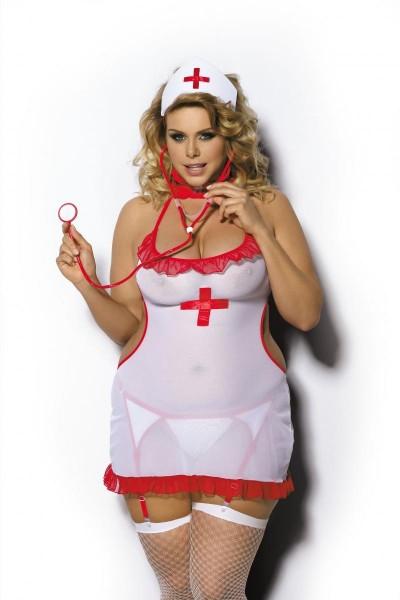 3-teiliges Krankenschwester Outfit AA051636 von Anais Apparel Plus Size