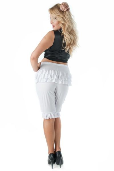 weißer Pantaloon SW/122 Andalea Sexy Work Kollektion