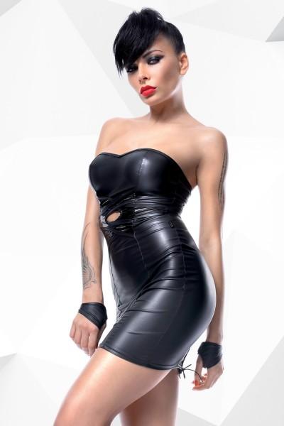 schwarzes Minikleid Heidi von Demoniq Hard Candy Collection