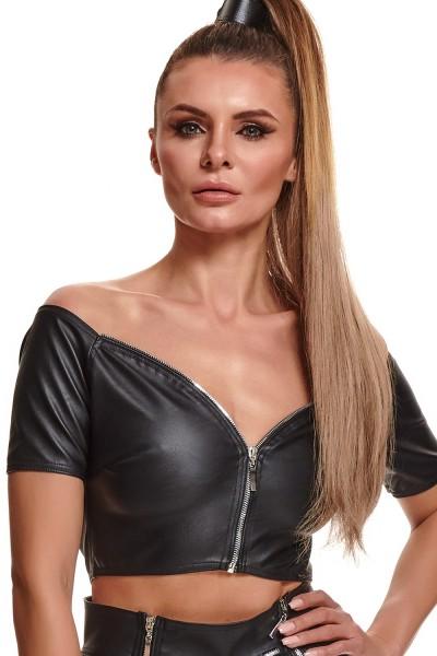 Schwarzes Damen-Top BRMarina001 von Demoniq Black Rose 2.0 Collection