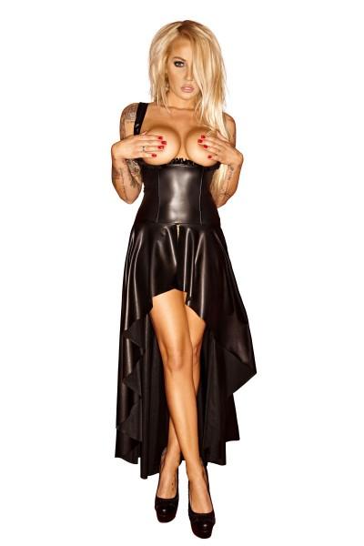 langes Wetlook Kleid F069 von Noir Handmade