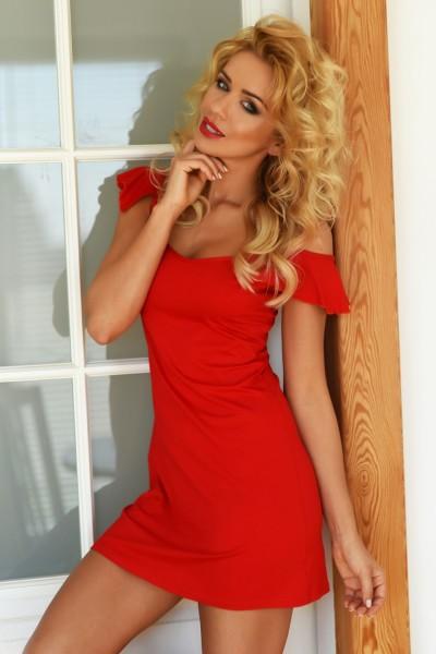 rotes Nachtkleid Indiana von Kalimo