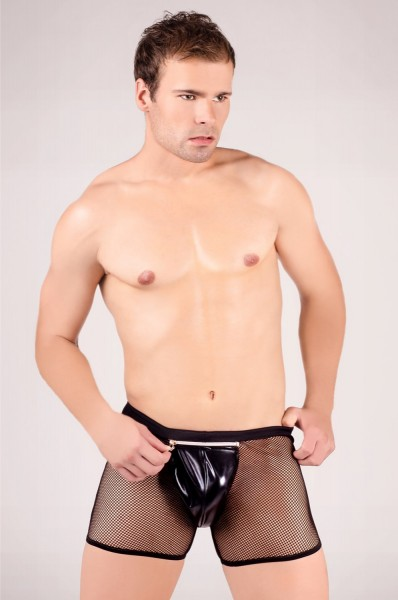 schwarzer Netz-Boxer-Shorts MC/9008 von Andalea Dessous