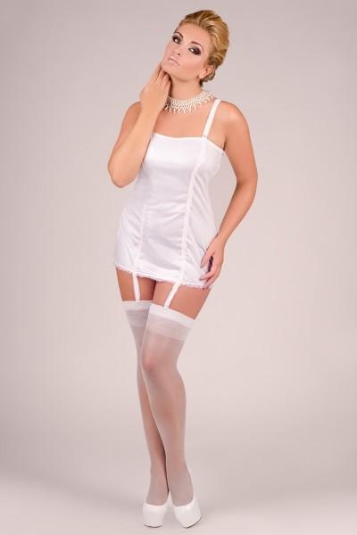 weißes Strapskleid M/1040 von Andalea Dessous