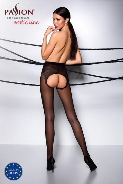 ouvert Strumpfhose TI OPEN 006 schwarz von Passion Erotic Line