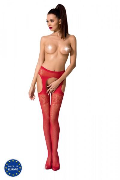 ouvert Strumpfhose S005 rot von Passion Erotic Line