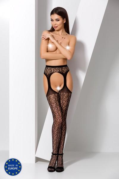 ouvert Strumpfhose S014 schwarz von Passion Erotic Line
