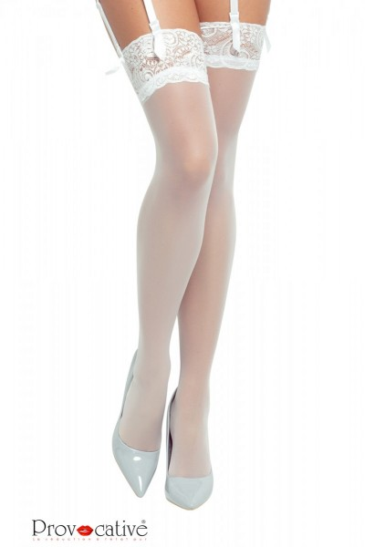 weiße Stockings PR0250 S/L von Provocative