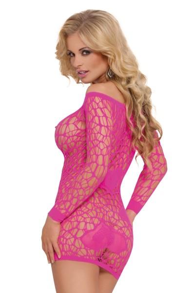pinkes Netzkleid 6021 von Softline Bodystockings Collection