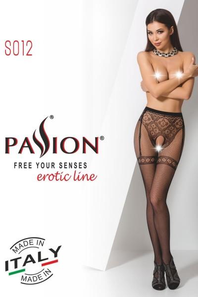 ouvert Strumpfhose S012 schwarz von Passion Erotic Line