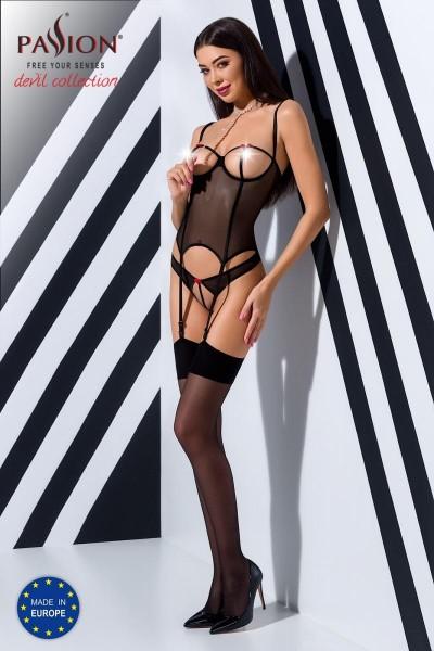 schwarzes Corset PA595294 von Passion Devil Collection