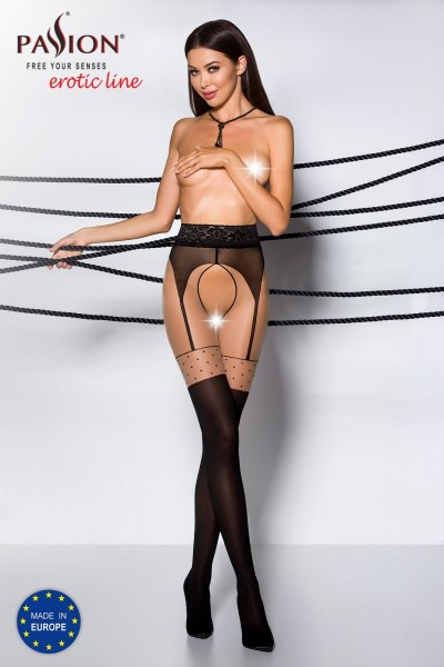 ouvert Strumpfhose TI OPEN 003 schwarz von Passion Erotic Line