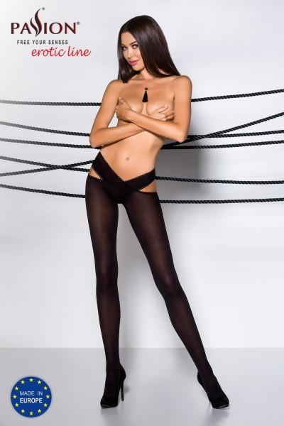 ouvert Strumpfhose TI OPEN 005 schwarz von Passion Erotic Line
