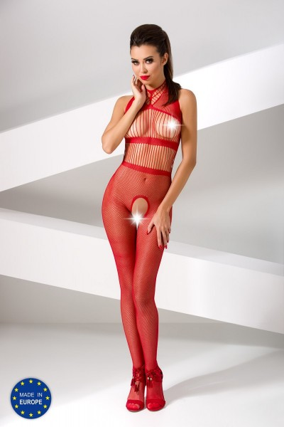 roter ouvert Bodystocking BS048 von Passion