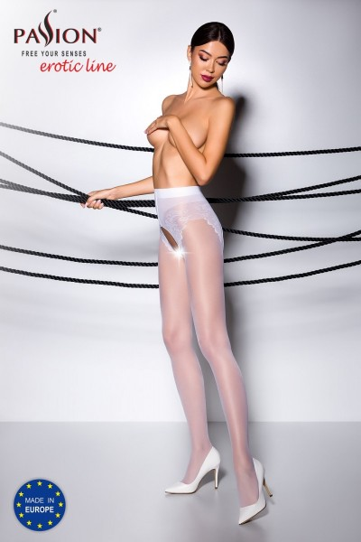 ouvert Strumpfhose TI OPEN 006 weiß von Passion Erotic Line