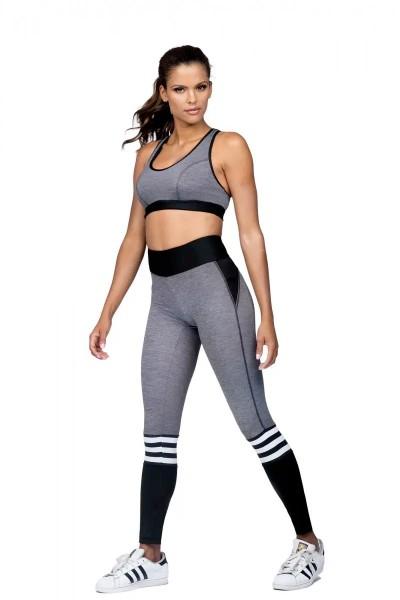 Sport BH - Fitness Top L5165 Grau - Lorin