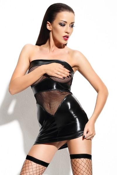 schwarzes Minikleid Dagmar von Demoniq Mistress Collection