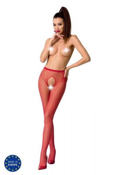 ouvert Strumpfhose S019 rot von Passion Erotic Line