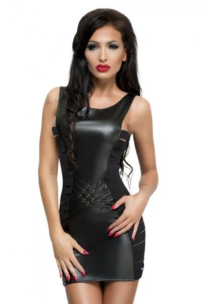 schwarzes Wetlook Kleid Lea von MeSeduce Bond Me Collection