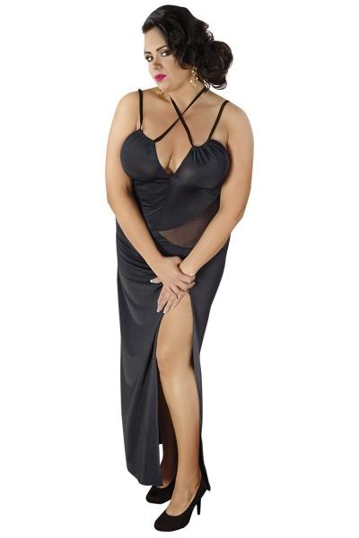 schwarzes langes Kleid C/4002 von Andalea