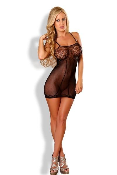 schwarzes Netz-Kleid PR4570 von Provocative