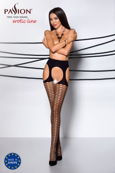 ouvert Strumpfhose TI OPEN 004 schwarz von Passion Erotic Line