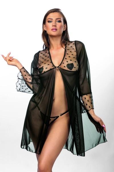 schwarze Robe AA052289 von Anais Apparel