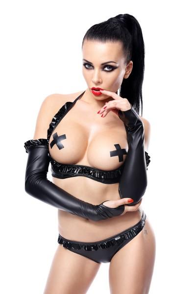 schwarze Armstulpen Getrude von Demoniq Hard Candy Collection