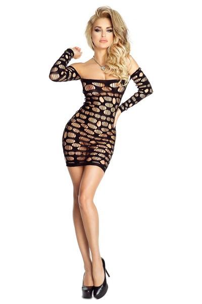 schwarzes Netz-Kleid PR4708 von Provocative