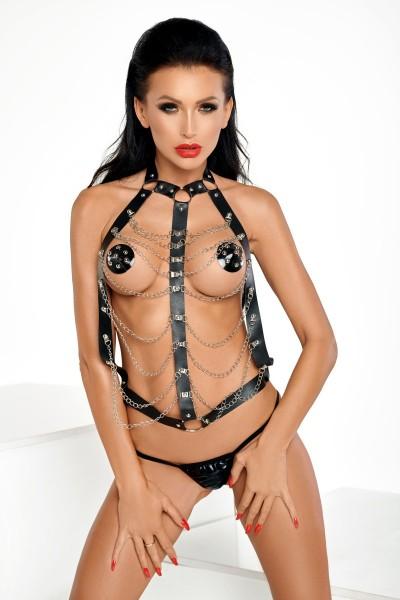schwarzer Harness T0154 von MeSeduce