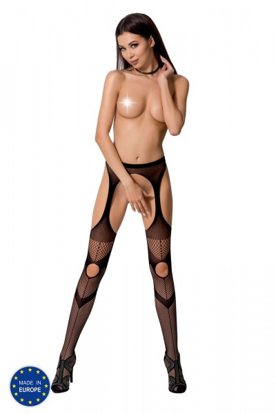 ouvert Strumpfhose S009 schwarz von Passion Erotic Line