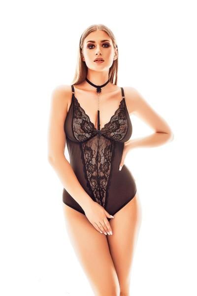 schwarzer ouvert Body AA052250 von Anais Apparel