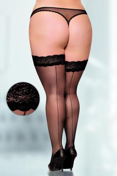 schwarze Strümpfe 5530 von Softline Plus Size