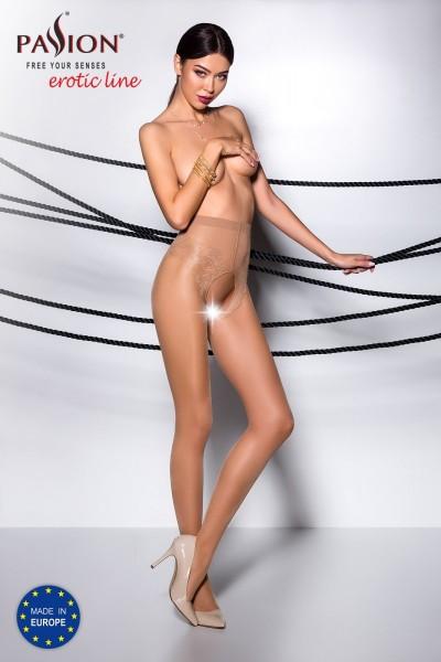 ouvert Strumpfhose TI OPEN 006 beige von Passion Erotic Line