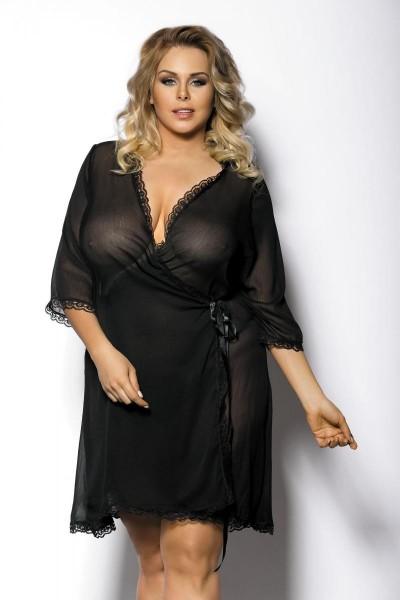 schwarzer Kimono AA0521295 von Anais Apparel Plus Size