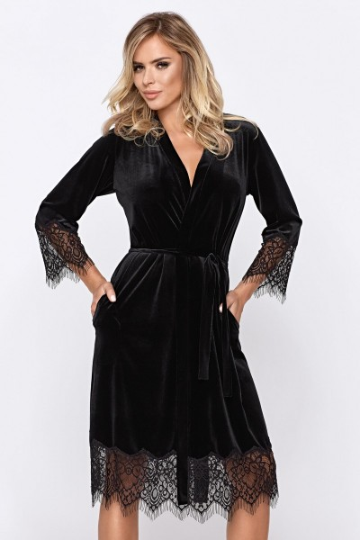 schwarzes Mia Desssing Gown von Hamana