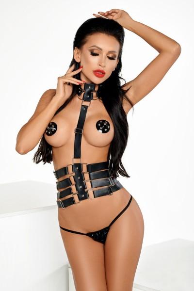 schwarzer Harness T0162 von MeSeduce