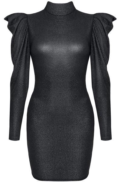schwarzes Minikleid CADR005 von Demoniq Carnival Party Line