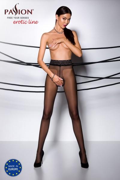 ouvert Strumpfhose TI OPEN 001 schwarz von Passion Erotic Line
