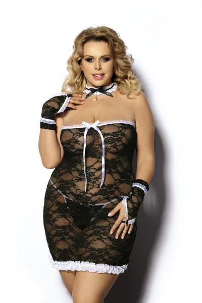 4-teiliges Dienstmädchen Outfit AA051744 von Anais Apparel Plus Size