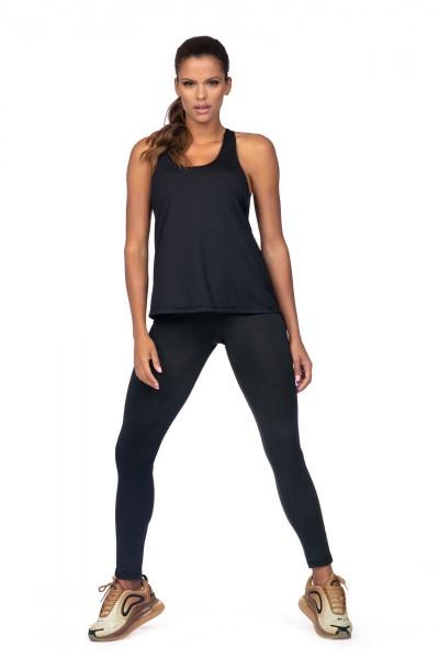 Sport Shirt - Fitness L5180 Schwarz von Lorin