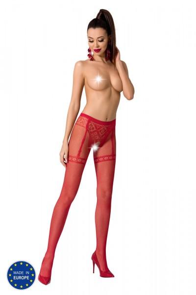 ouvert Strumpfhose S012 rot von Passion Erotic Line