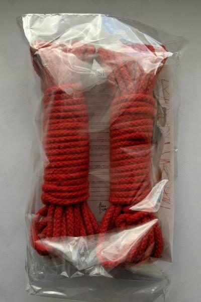 2 x 8 Meter Bondage-Seil Rot von Demoniq