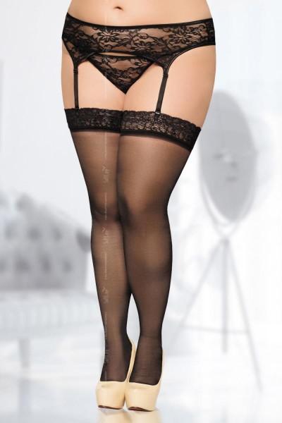 schwarze Strümpfe 5541 von Softline Plus Size