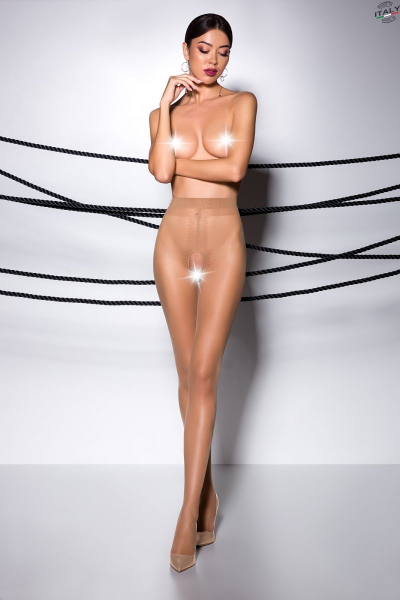 ouvert Strumpfhose TI OPEN 007 beige von Passion Erotic Line